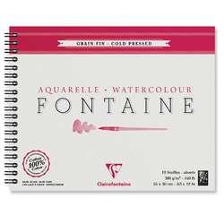 Album de papier aquarelle à spirale Fontaine - Clairefontaine (300g/m2)