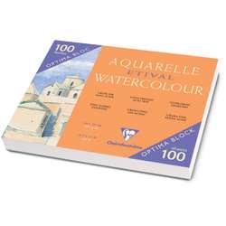 Bloc papier aquarelle Etival Clairefontaine (Grain Fin  - 300g/m²)