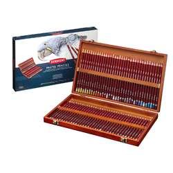 Coffret en bois crayons pastels Derwent