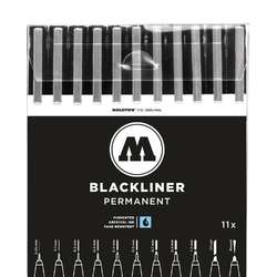 Set de 11 feutres Basic Blackliner Molotow