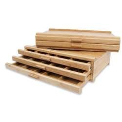 Coffret de rangement en bois de hêtre pour les pastels