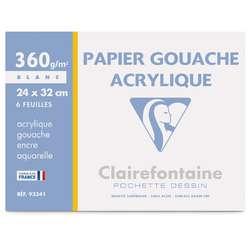 Pochette gouache et acrylique Clairefontaine