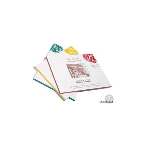 Bloc carré de 20 feuilles de papier aquarelle Sennelier