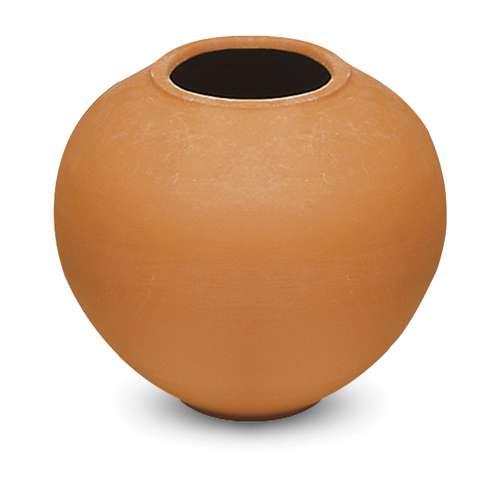 Vase sphérique en plâtre