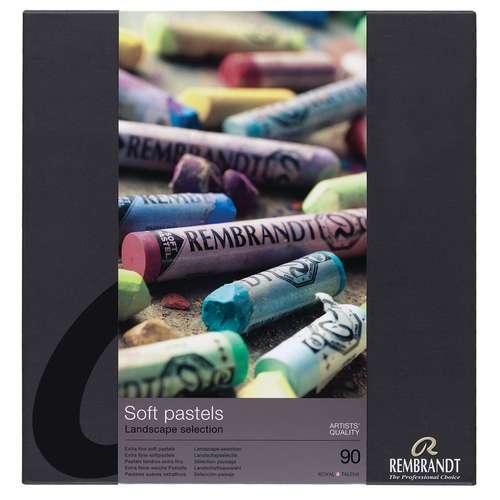 Coffret en carton de pastels Rembrandt