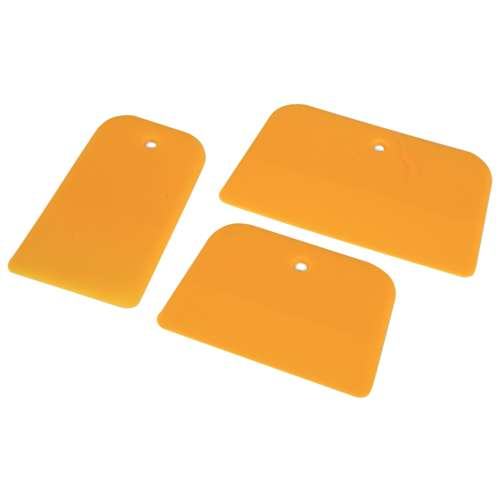 3 spatules souples jaunes