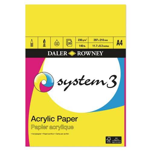 Bloc SYSTEM3 pour acrylique Daler-Rowney