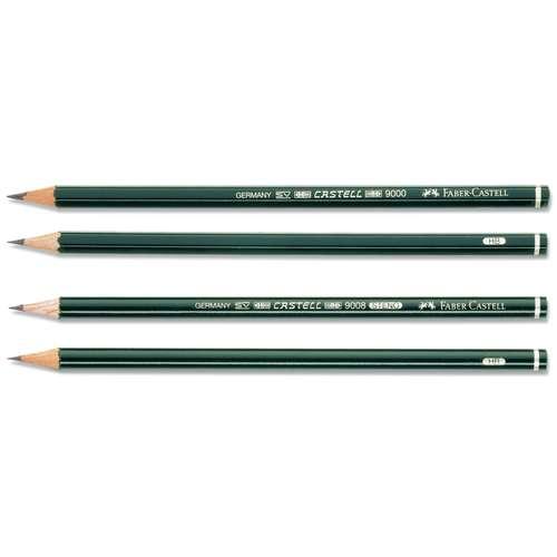 Coffret de 12 crayons graphites Castell 9000