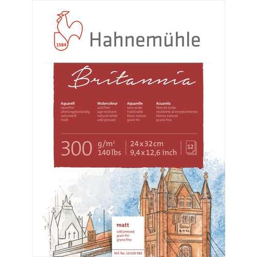 Bloc de papier blanc aquarelle Britannia Hahnemuehle