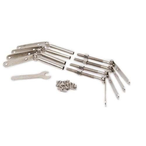 Lot de 4 tendeurs en métal pour châssis - Gerstaecker