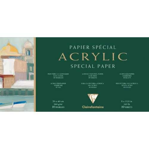 Bloc de 10 feuilles acrylique Clairefontaine (360g/m²)