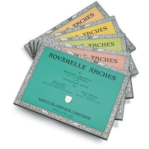 Bloc papier aquarelle Arches 300g/m²