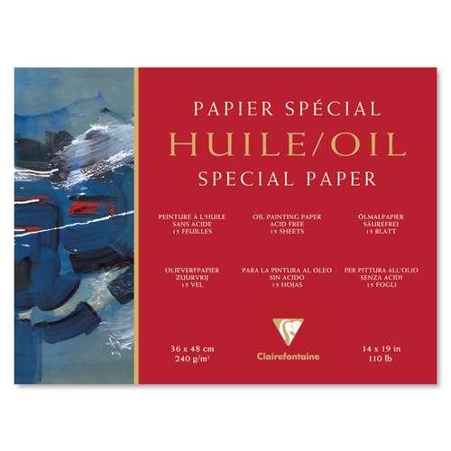 Bloc papier Clairefontaine pour peinture à l'huile (240g/m2)