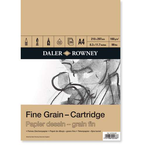 Bloc de 30 feuilles grain fin Daler Rowney