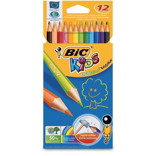 Etui crayons de couleur Bic Kids Evolution