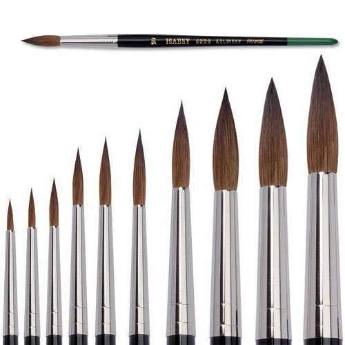 Pinceau aquarelle Isabey pointe ronde, série 6228