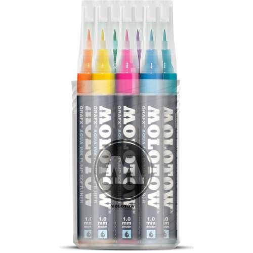 Coffret de 12 marqueurs Grafx Aqua Ink Molotow