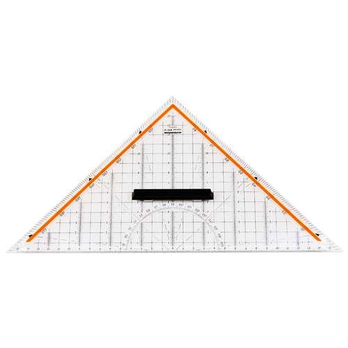 Equerre géometrique 22,5cm.