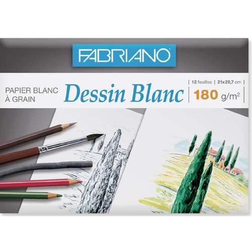 Pochette de papier dessin blanc Fabriano