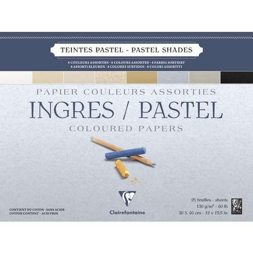 Papier Clairefontaine Ingres pastel (130g/m²)