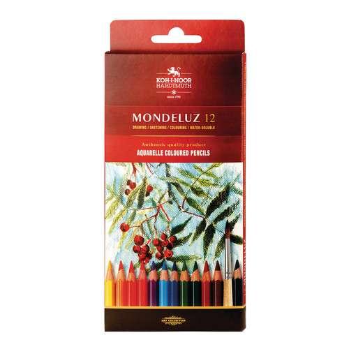 Crayons de couleur aquarellables Mondeluz