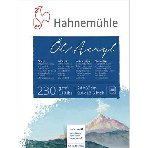 Bloc de papier spécial huile et acrylique Hahnemühle