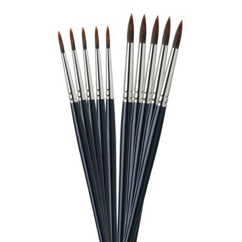 Set de 10 pinceaux aquarelle pointe ronde I Love Art