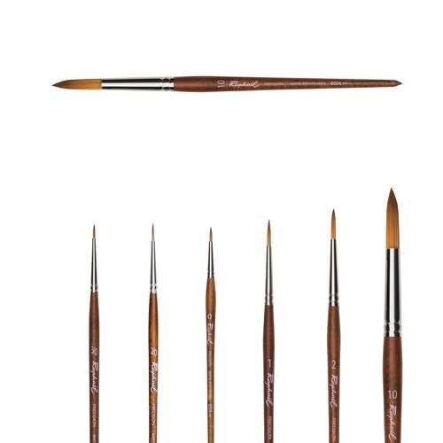 Pinceaux aquarelle Précision Raphaël, pointe ronde, série 8504
