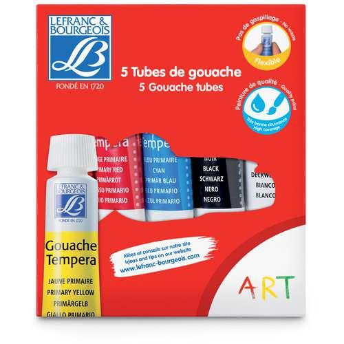 Coffret gouache Lefranc & Bourgeois - 5 tubes de 10 ml