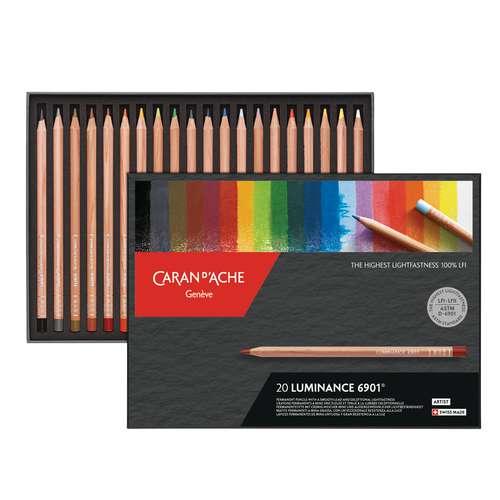 Coffrets de crayons de couleur Luminance 6901 de Caran d'Ache