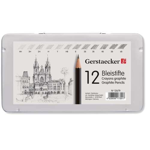 Sets de 12 crayons graphites Gerstaecker