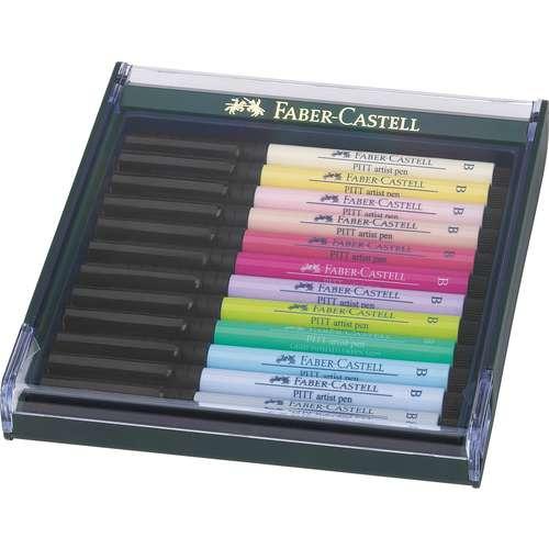 Coffrets de 12 feutres  Pitt Artist Pen Brush
