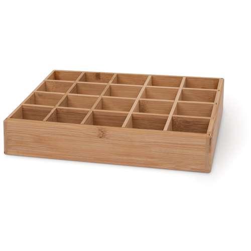Coffret à sections en bambou