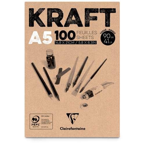 Bloc Kraft brun Clairefontaine (90g/m2)