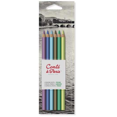 Set Paysage de 6 crayons pastels Conté à Paris