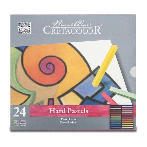 Coffret en métal de 24 pastels Crétacolor