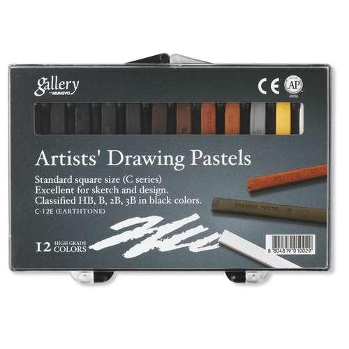 """Coffret de 12 pastels carrés tons """"terre"""" Gallery"""