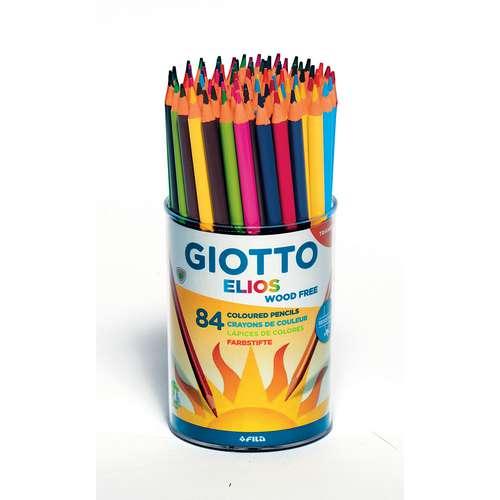 Pot de 84 crayons de couleurs Elios Wood Free