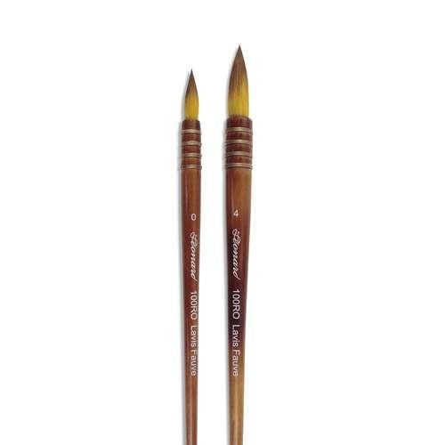 """Set de 2 pinceaux lavis """"fauve"""", série 100RO, Léonard"""