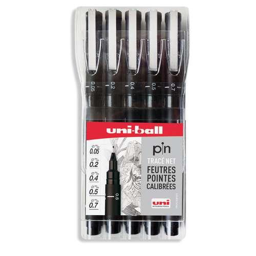 Set de 5 feutres Uni-Pin
