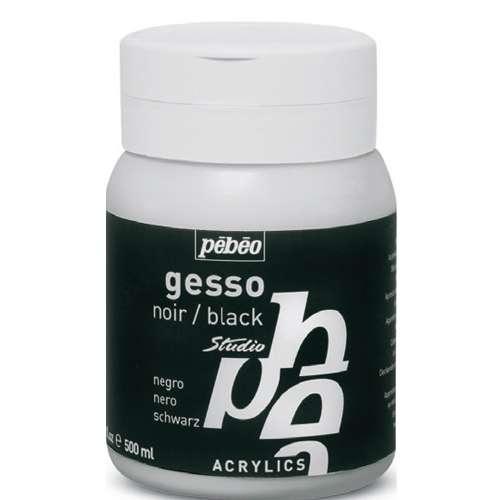 Gesso noir opaque Pébéo