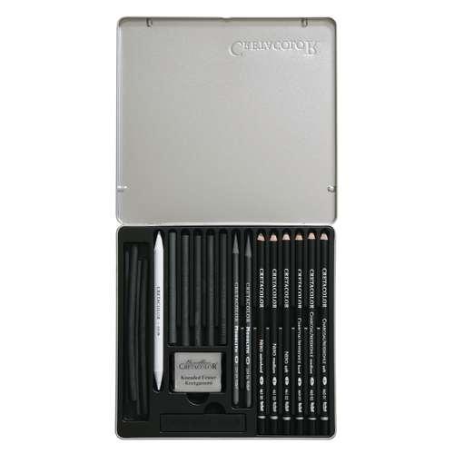 Coffret black box de crayons et craies Crétacolor