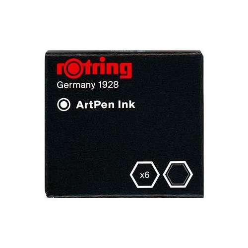 Encre Artpen - étui de 6 cartouches - Rotring