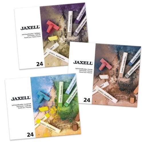 Sets de 24 pastels tendres carrés JAXELL®