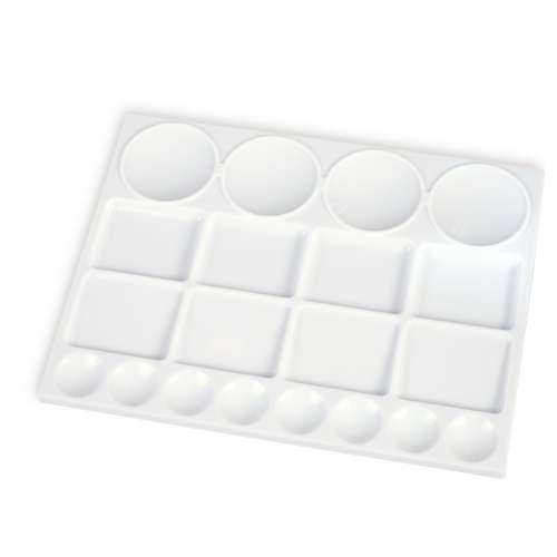 Palette rectangulaire blanche en plastique Gerstaecker
