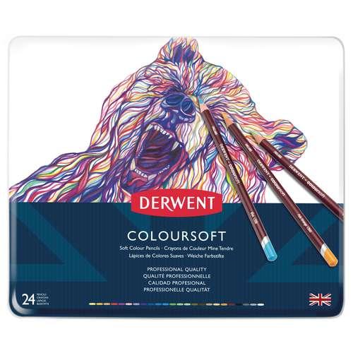 Assortiment de crayons de couleurs ColourSoft de Derwent Artists