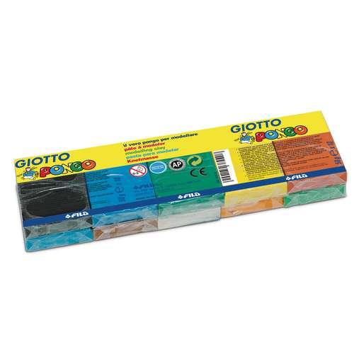 Pâte à modeler Giotto Pongo 10 x 50g