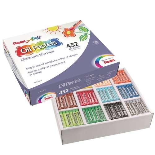 Coffrets de 432 pastels à l'huile Pentel  Ø 8mm