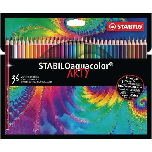 Set de crayons aquarellables Stabilo® aquacolor Arty