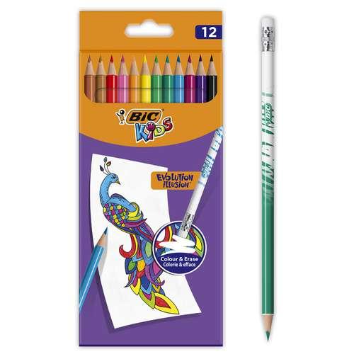 Set de crayons de couleur BIC® KIDS Evolution Illusion